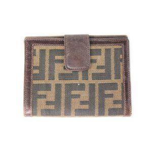 Vintage Fendi Zucca Monogram Bifold Wallet Purse